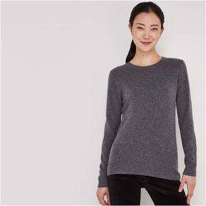 NWT Joe Fresh Grey Cotton/Cashmere Blend Sweater